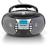 KARCHER RR 5025-B tragbares CD-Radio I CD-Player mit Netz-und Batteriebetrieb I UKW-Radio mit...