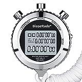 BizoeRade Metall Stoppuhr mit Stumm Funktion, 100 Stück Speicherdaten LCD Großer Bildschirm...