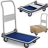 DEUBA Plattformwagen | bis 150 kg | klappbar | Antirutsch Beschichtung | Transportwagen Handwagen...