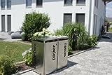 Unbekannt metz trashbox double Mülltonnenbox Aufbewahrungsschuppen aus Edelstahl