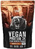 nu3 Vegan Protein 3K Shake - 1Kg Chocolate Blend - veganes Eiweisspulver aus 3-Komponenten-Protein...