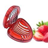 Fovely Mini Strawberry Cutter Kunststoff Strawberry Slicers Küchenutensilien zum Schneiden von...