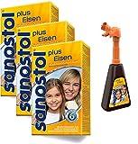 Sanostol plus Eisen mit Pumpspender: Multi-Vitamine für Kinder ab 6 Jahren und Erwachsene, mit...