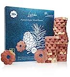 LAVODIA 30x Premium Zedernholz Ringe gegen Kleidermotten, Zeder Blumen als natürlicher Mottenschutz...
