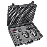Mantona Outdoor Foto Schutz-Koffer L (geeignet für DSLR Kamera, GoPro Actioncam, Foto-Equipment...