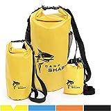 REVALCAMP Dry Bag 2L Gelb - Nicht Krebserregendes PVC* - wasserdichte Tasche aus TPU - Kein übler...