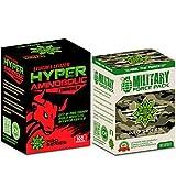 Cvetita Kräuter, Leucineth & Leuzea Hyper Aminobolic + Military Force Pack, BCAA Aminosäure...