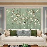 Nahtloses Wandbild Leder Blumen und Vgel Weiche Tasche Harte Tasche Wohnzimmer Schlafzimmer...
