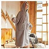 Kuscheldecke Hoodie,TV Blanket Sweatshirt, Weich, Bequem, Warm, Wearable Decke Pyjama Für...