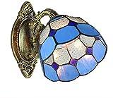 DALUXE Tiffany Kreative Wandleuchte Single Head-Buntglas-Wandlampen, Glas Lampshaes Korridor...