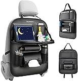 Tsumbay Auto Rückenlehnenschutz Wasserdicht Autositz Organizer mit vielen Sack, Tablet/Telefon...