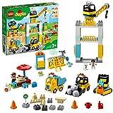 LEGO 10933 DUPLO Große Baustelle mit Licht und Ton, Spielfahrzeuge mit Push und Go Motor für...