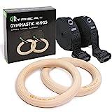 Gym Ringe Turnringe Holz, 28mm/32mm Gymnastikringe Verstellbaren Langen Buckles Straps, Ideal für...