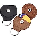 2 Stück Leder Plektrum Halter Schlüsselanhänger und 5 Stück 0,46 mm Bunte Zelluloid Material...