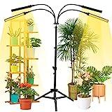 NaCot 【Upgrade】 96W Pflanzenlampe mit Ständer, 192 Led Pflanzenlicht 4 Lichtmodi Vollspektrum...