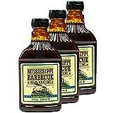 Mississippi - 3er Set Original Barbecue Sauce 'Sweet'n Mild' 510 g (440ml) - American BBQ Sauce...