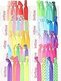 GirlZone Geschenke für Mädchen - Haargummi Set Mädchen - Zopfgummis für Mädchen auch als...