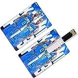 USB-Flash-Thumb-Laufwerke Kawhi Los Angeles Basketballspieler 2 Kreditkartenform Spaß Guy Leonard...
