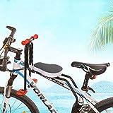 Elitlife Kindersitz, Modischer Abnehmbarer Fahrrad-Vordersitz Kindersitz Pedal mit Griff für...