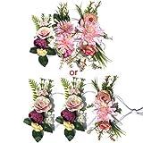 Jiamins 3 x attraktive, bezaubernde Blumenkranz-Stirnband, für Hochzeiten, Festivals