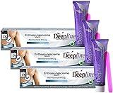 3 X 150ml Deepline Enthaarungscreme speziell für Männer - Enthaarungsmittel für den Mann - sanfte...