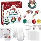 LIHAO 5mm Bügelperlen Weihnachten Steckperlen Set mit Steckplatte Zubehör Kränzchen Zuckerstangen...