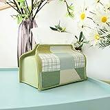 jjyy Pastorale Patchwork Tissue Box Kleine Frische Stoff Kunstdruckpapier Fach Papier Abdeckung...