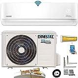 Quick-Connect INVERTER Split Klimaanlage mit Wärmepumpe Klimagerät ECO Smart WiFi/WLAN komplett...