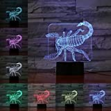 3D Tier mehrfarbig Nachtlicht Tischlampe Kinder Weihnachten Geburtstagsgeschenk Touch