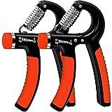 WeyTy 2er-Set Handtrainer, Hand Trainingsgerät Einstellbarer Widerstandsbereich 5-60kg Unterarm...