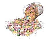 Happy Sprinkles Pastell Summer| Zuckerstreusel Mix bunt | Für Torten Kuchen Plätzchen Muffin Eis |...