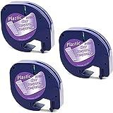 MarkField Kompatible Etiketten als Ersatz für Dymo Letratag Kunststoff Transparent Etikettenband,...