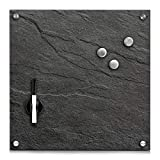 HTI-Living Memoboard Glas Schiefer Pinnwand Magnettafel Magnetboard Schreibtafel Schreibboard