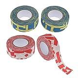 Toygogo 4pcs Eishockeyschlger Tape Putter 1''x10yds Hockey Grips Cotton Protect