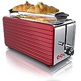 Arendo - Automatik Toaster Langschlitz 4 Scheiben - Defrost Funktion - wrmeisolierendes Gehuse -...