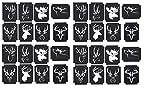Deer Stag Hirsch Collection Sammlung (Deer fawn Tattoo Henna Glitzer Schablonen)