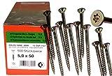 Torx Spanplattenschrauben 5,0 x 50 mm, Dresselhaus JD79, I-Stern, 500 Stk/Paket