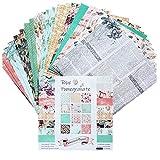 rebirthesame 24PCS DIY Fotoalbum-Einklebebuch-Handkonto-Karte, die einseitiges Muster-Papier des...