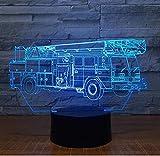 Nachtlicht Kran Lkw 3D Lampe 7 Farbe Led Nachtlicht für Kinder Touch USB Tisch Lampara Lampe Baby...