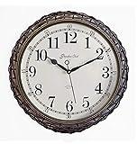 Batterie Wanduhr Rattan Stille Uhr Wohnzimmer Schlafzimmer Quarzuhr Quarz 15 Zoll 38 5 Cm Es Gilt...