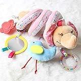 BTSEURY Süße Pram Spielzeug Aktivität Spirale Baby Pram Spielzeug Baby Kinderwagen Spielzeug mit...