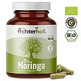 Bio Moringa Kapseln (150 Stück) hochdosiert mit je 500mg reinem Moringa-Pulver vom-Achterhof