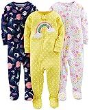 Simple Joys by Carter's Baby und Kleinkind Mädchen Schlafanzug mit Fuß, Baumwolle, 3er-Pack...