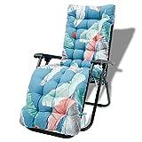 Sonnenliegen-Kissen, Chaiselongue-Kissen, dicke Gartenliegenauflage mit rutschfestem Bezug und...