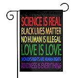 Juhucc Science is Real Black Lives Matter Flagge, doppelseitige Gartenflagge, Banner, Autofahne für...