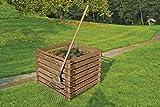 Gartenwelt Riegelsberger Holzkomposter 90x90xH70 cm Kiefer braun kesseldruckimprgniert mit...