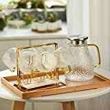 Wassergläser 6 Tassen Glas Trinkbecher Einfaches Wasser Cup Set Kaffeetisch Desktop-Kaffeetasse...