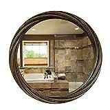 XIAOQIAO Runde Badezimmerspiegel, Wandbehangspiegel, Schminkspiegel für das Badezimmer,...