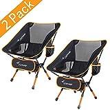 Sportneer Campingstuhl 2er set, Tragbar Leicht Faltbar Camping Stuhl bis zu 150 kg für...