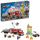 LEGO 60282 City Mobile Feuerwehreinsatzzentrale Bauset, Feuerwehrauto Spielzeug
